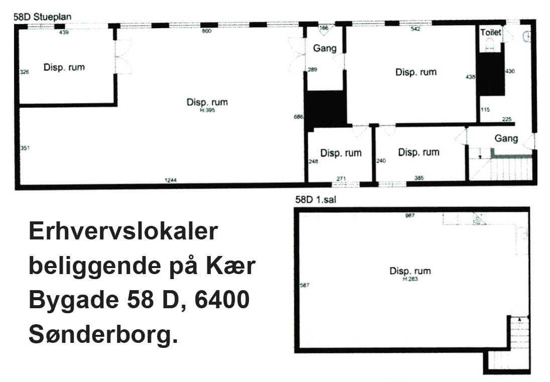 Erhvervslokaler på Kær Bygade 58 D i Sønderborg udlejes